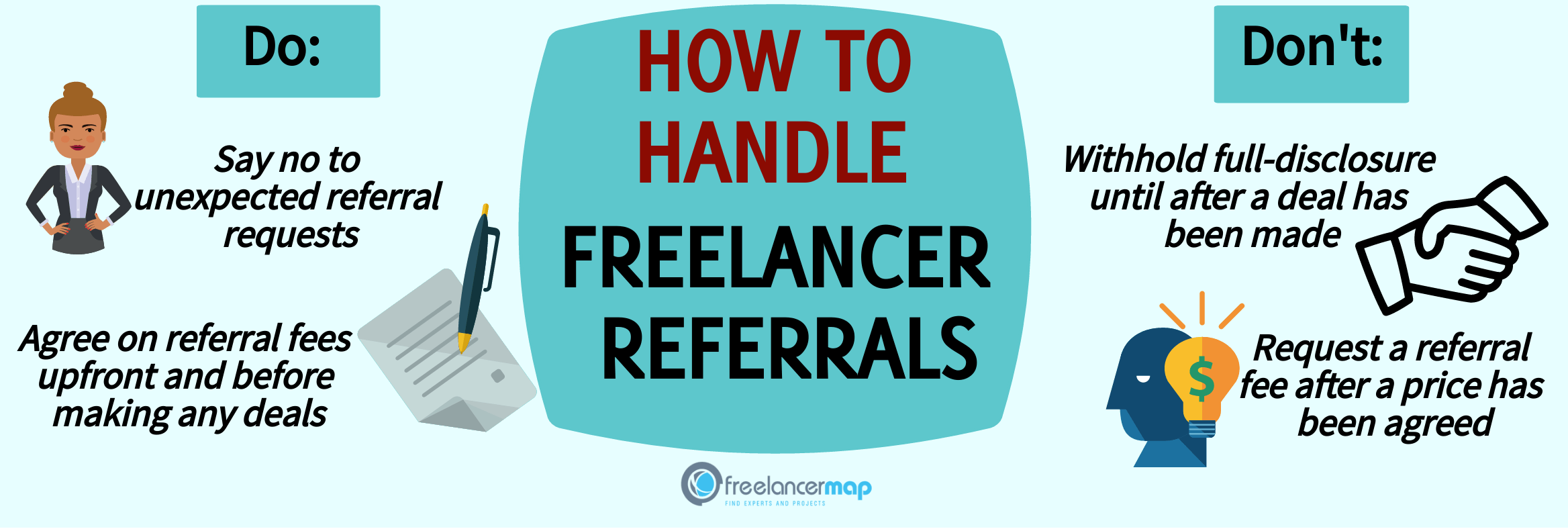 Do's and don'ts on freelancer referral fees