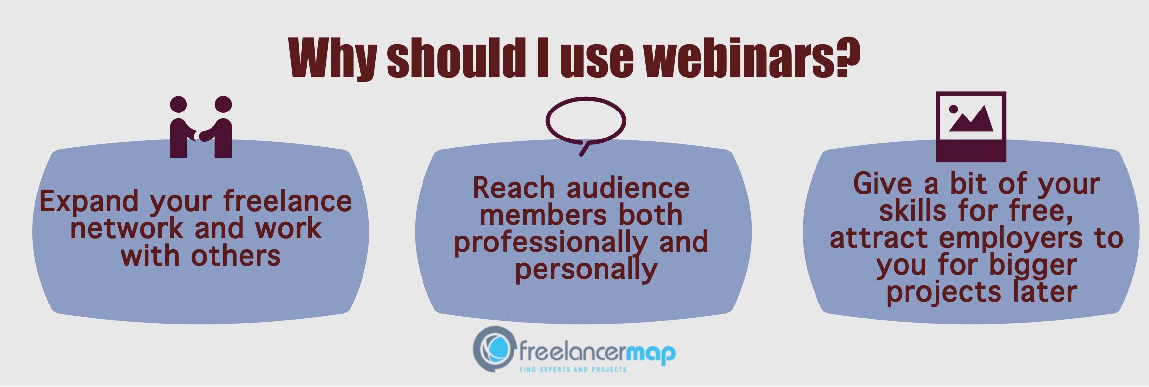 Why should freelancers do webinars