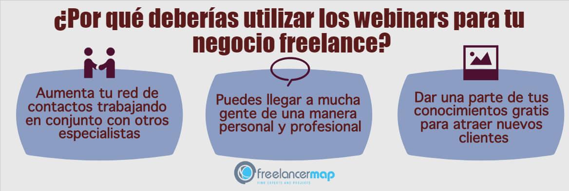 Razones para hacer webinars como freelancer