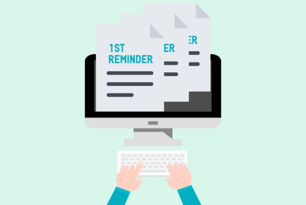 Sending reminders for late payments