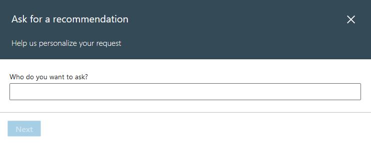 como pedir uma recomendação no linkedin exemplo