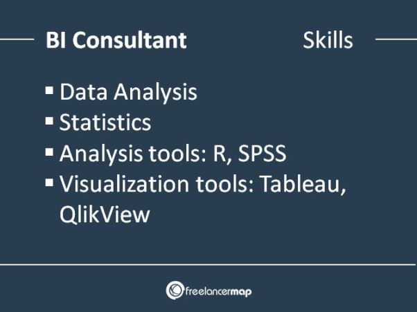 Technical skills needed by BI consultants